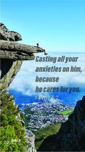 1 Peter 5:7 - Bible Verses About Being Blessed - Mobile Wallpaper
