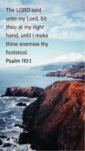 Psalm 110:1 - Bible Verses About Being Blessed - Mobile Wallpaper